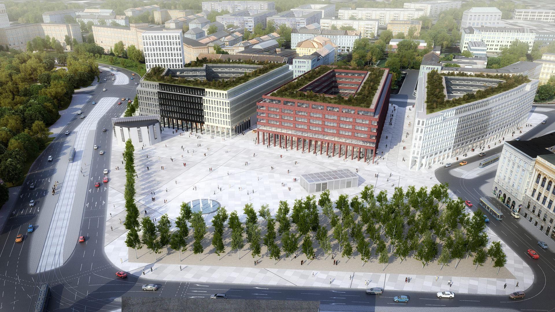 Wilhelm Leuschner Platz, Lipsko, Německo