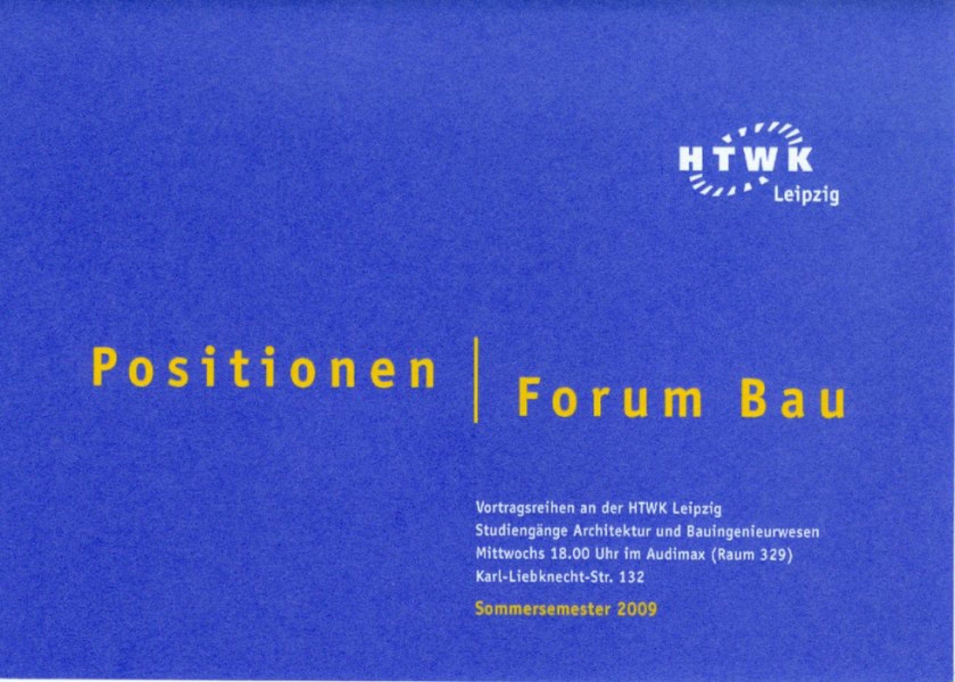 Pozvánka na přednášku ´Die erträgliche Schwere der Architektur´ vLipsku