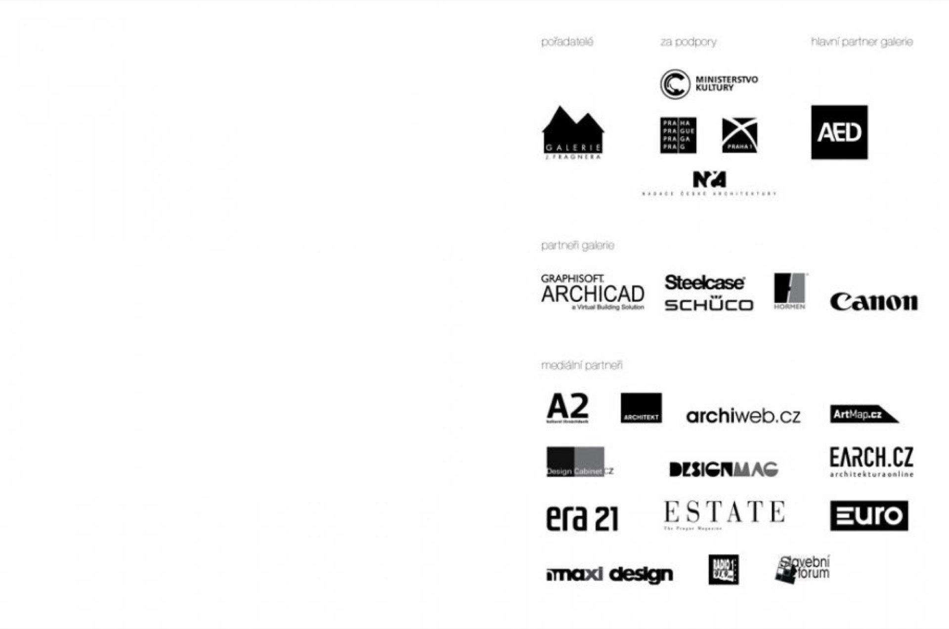 Pozvánka na výstavu Burian Křivinka Pelčák Rusín Wahla Stavby aprojekty