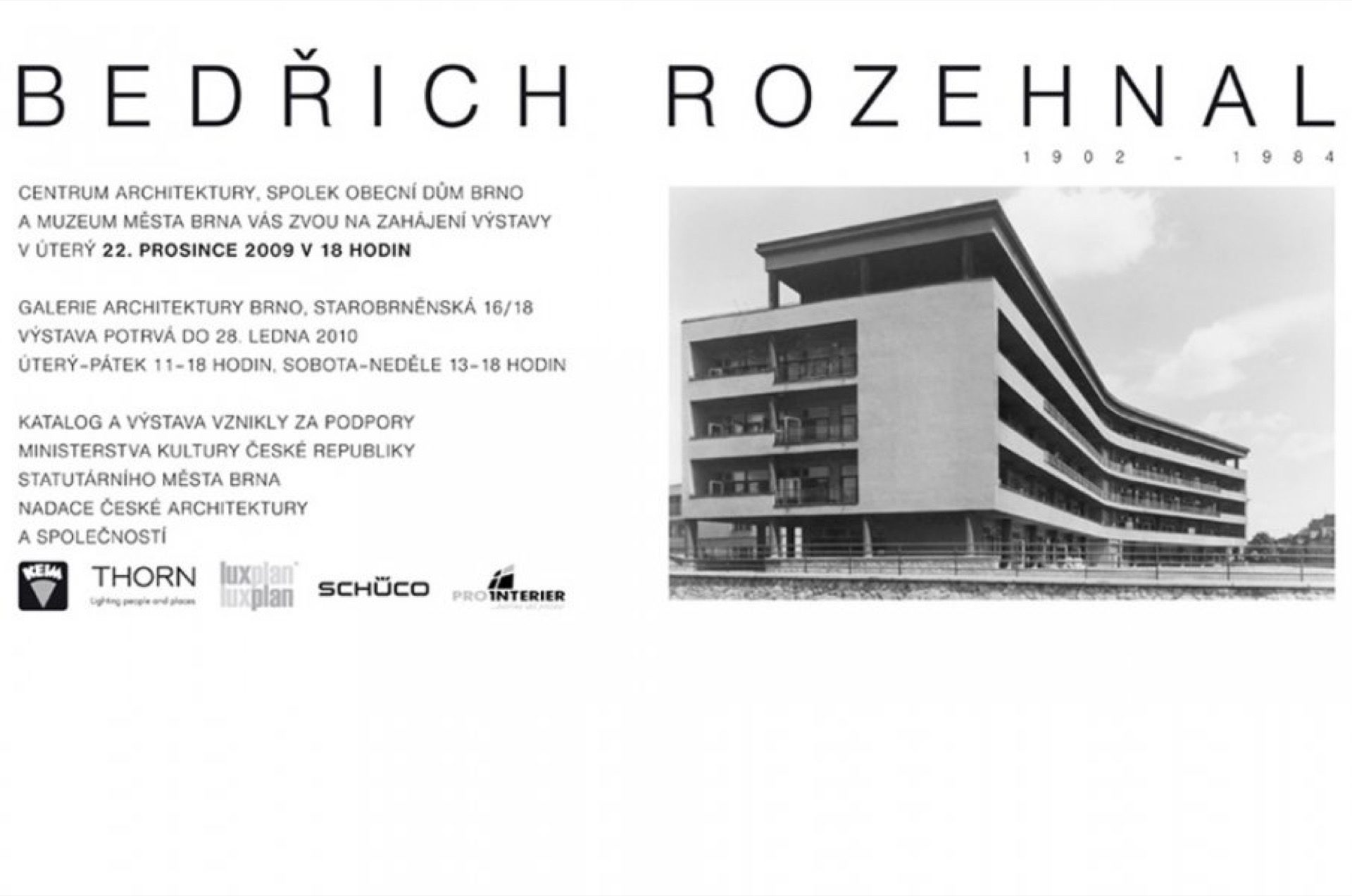 Další zbílých monografií, tentokrát Bedřich Rozehnal