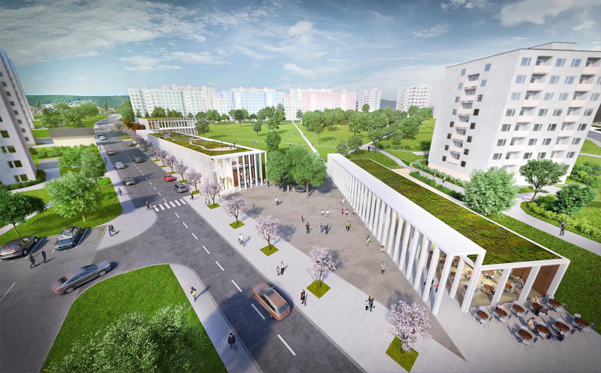 New Building of Community Center Bystrouška, Brno-Bystrc