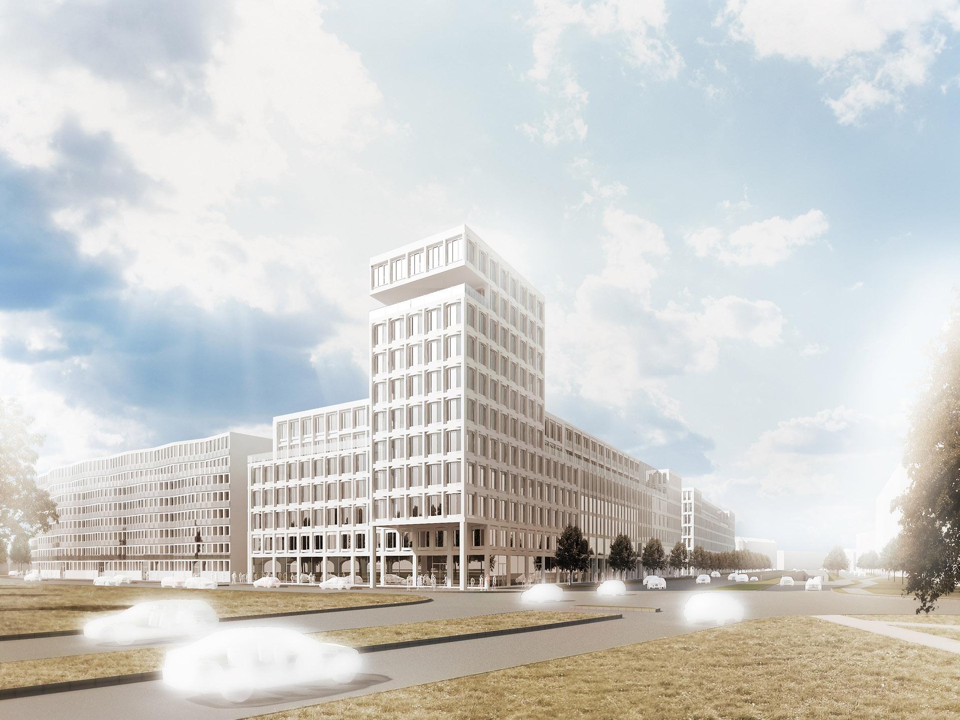 """Dva bloky v""""Jižním centru"""", Brno"""