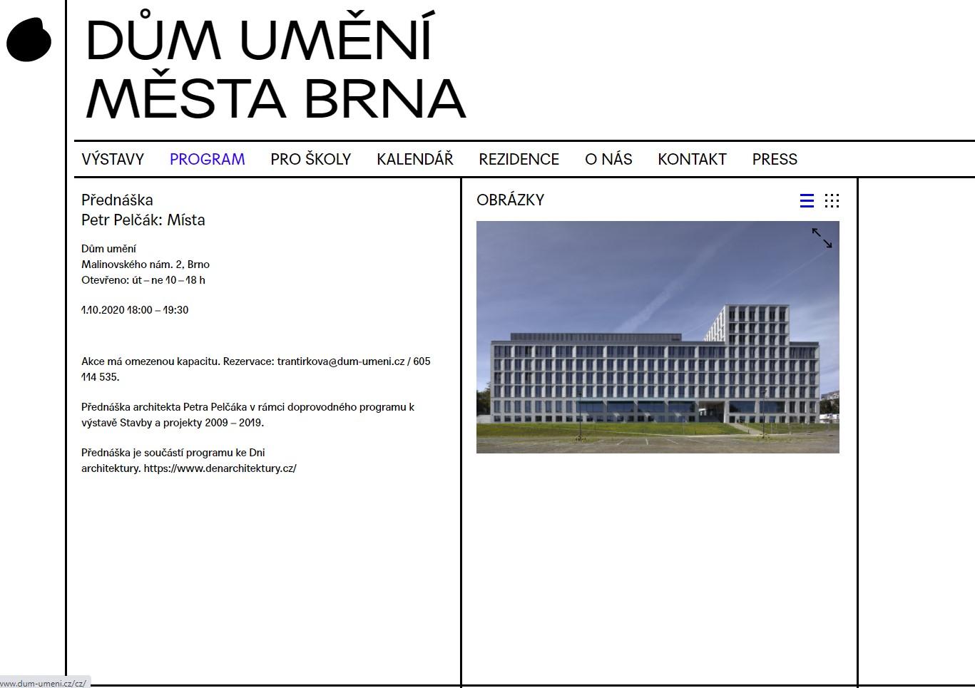 Místa / Dům umění Brno